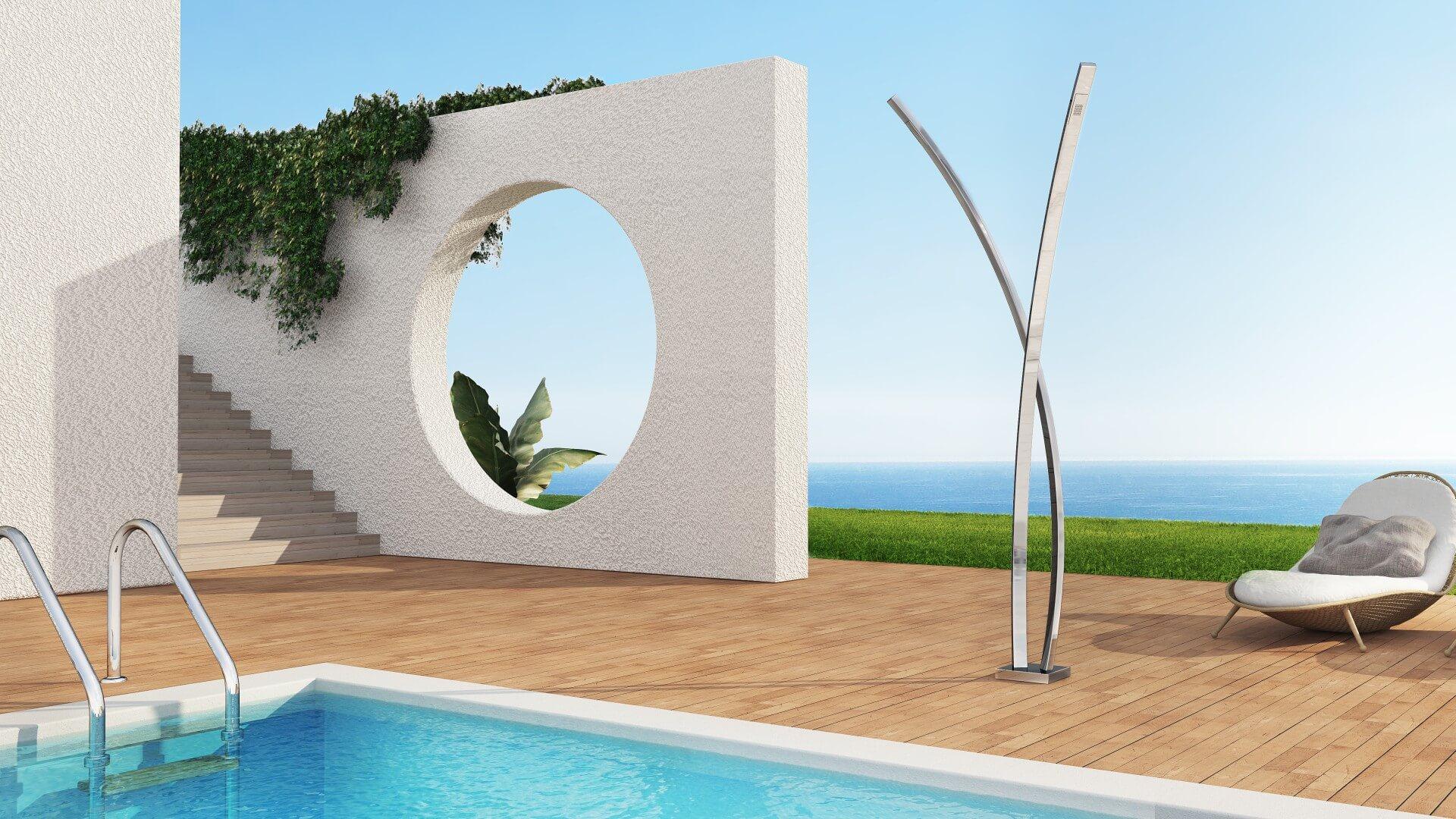 Picture Outdoor shower, pool, garden - Preludio Inoxstyle