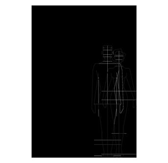 Disegno tecnico doccia per esterno, per piscina, per giardino - Aria Cylinder Inoxstyle