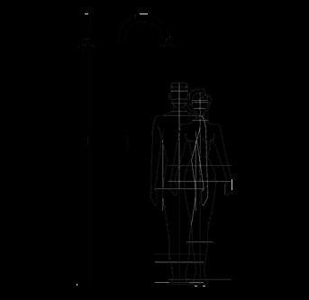 Technische Zeichnung Außendusche, Pool, Garten - Sole 60 Inoxstyle