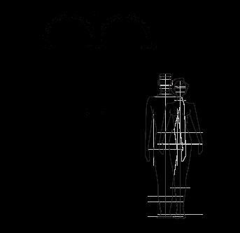 Technische Zeichnung Außendusche, Pool, Garten - Melody Inoxstyle