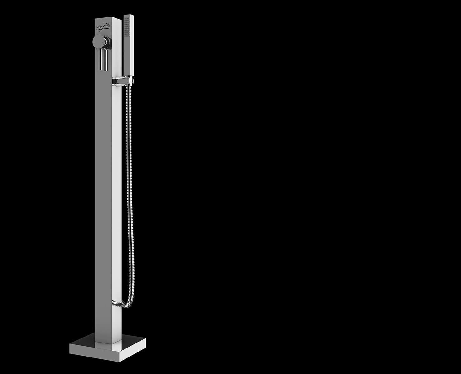 Telefono cube doccia per esterno in acciaio inox inoxstyle - Doccia per esterno ...