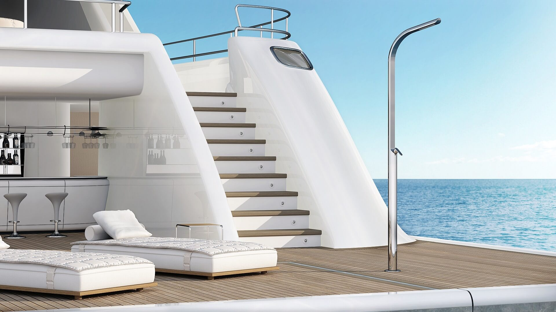 Picture Outdoor shower, pool, garden - Dream Yacht Inoxstyle